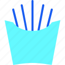 cook, food, french fries, meal, potato, snack icon