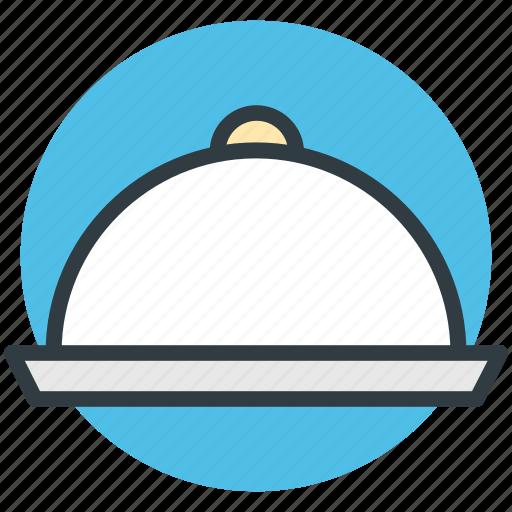 food platter, food serving, hotel service, platter, serving platter icon