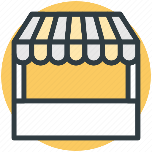 booth, food stall, food stand, kiosk, market stand icon