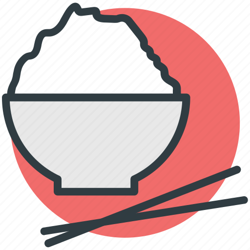 chopstick, food bowl, japanese food, lunch, meal icon