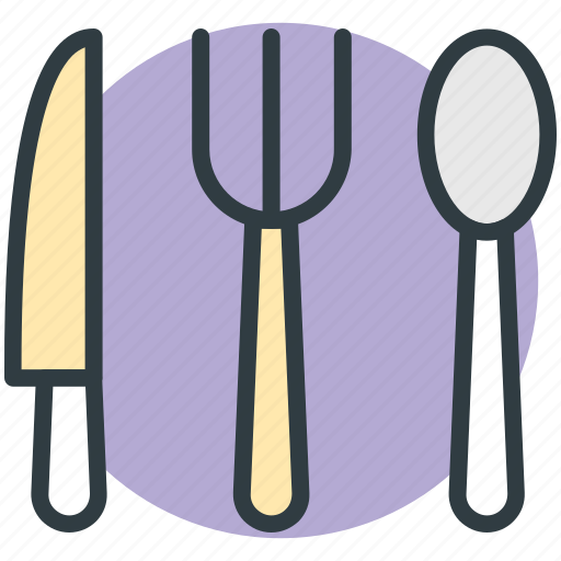 flatware, fork, knife, spoon, utensil icon