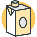 milk box, milk carton, milk container, milk pack, packaged food icon