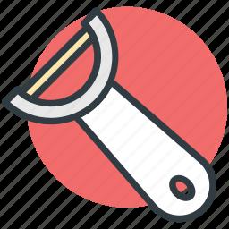 kitchen accessory, kitchen gadget, kitchen tool, peeler, potato peeler icon