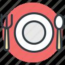 dining, fork, knife, plate, restaurant