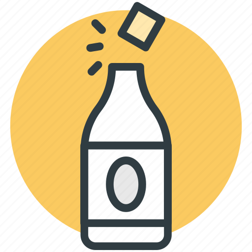 bottle opening, champagne, champagne bottle, drink bottle, uncork champagne icon