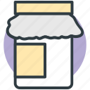 food container, food jar, food storage, jam jar, jar icon