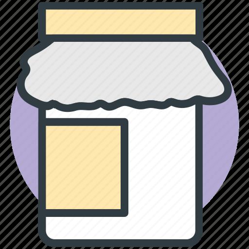 food container, food jar, food storage, jam jar, jar icon