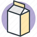 breakfast, calcium, healthy, liquor food, milk container icon