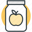 apple jam, apple preserved, container, marmalade, savoury spread icon