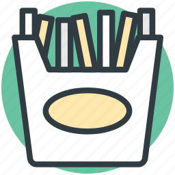 french fries, french fries box, fries box, frites, potato fries icon