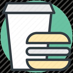burger, fast food, food, junk food, soft drink icon