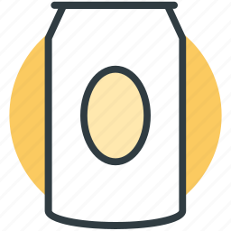 canned drink, cola can, fizzy drink, soda tin, tin pack icon
