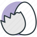 breakfast, egg, food, poultry, protein food icon