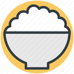 food, food bowl, meal, rice bowl, supper icon