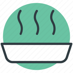 food bowl, hot food, hot soup, meal, soup icon