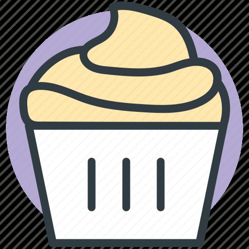 bakery food, cupcake, dessert, fairy cake, muffin icon
