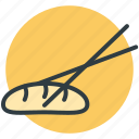 chopsticks, japanese food, oriental food, seafood, sushi icon