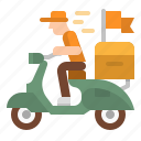 bike, delivery, scooter, takeaway, transport