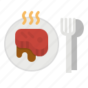 barbecue, food, grilled, meat, steak icon