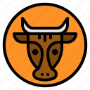 animal, avatar, beef, cow, meat icon