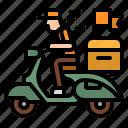 bike, delivery, scooter, takeaway, transport