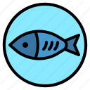 animal, fish, fisher, food, meat icon