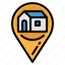 address, home, location, maps, pin icon