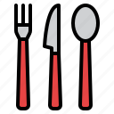 cutlery, delivery, eating, food