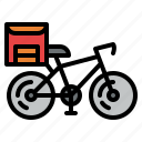 bicycle, bike, delivery, food