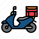 delivery, food, motorcycle, restaurant