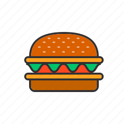 burger, eat, food, hamburger, meat, patties icon