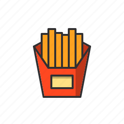 chips, food, french, fries, potato icon