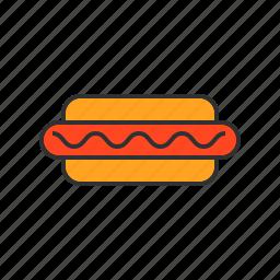 eat, food, hotdog, meat icon