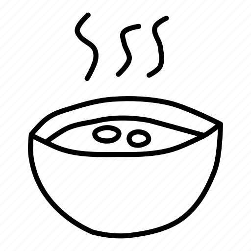 bowl, cup, drink, hot, soup, vessel icon