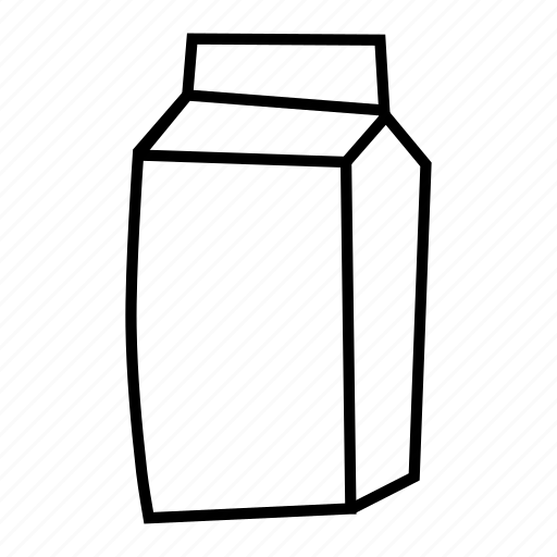 beverage, drink, juice, milk, tetrapack icon