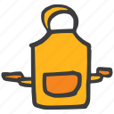 apron, chef, cook, kitchen, pocket icon