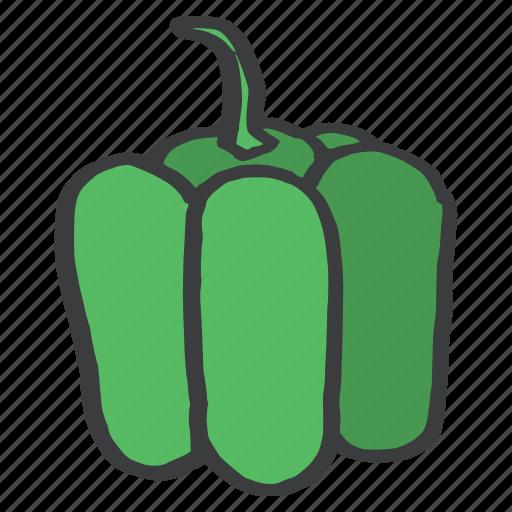 bell, capsicum, food, fresh, fruit, green, pepper icon