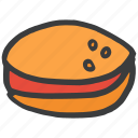 burger, fast, food, ham, junk, veggie icon