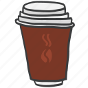 beverage, caffeine, coffee, cup, drink, hot icon
