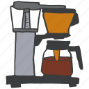 breakfast, coffee, cook, kitchen, maker, tool icon