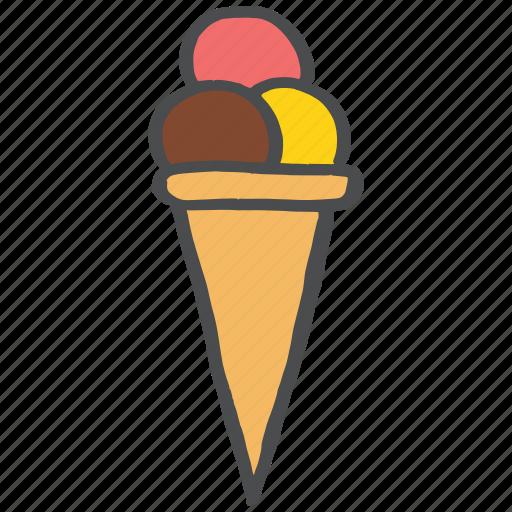 candy, cone, dessert, icecream, sweet, treat icon