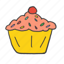 birthday, candle, cupcake, easter, festival, muffin, sweets icon
