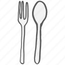 cutlery, dinner, eat, fork, restaurant, spoon icon