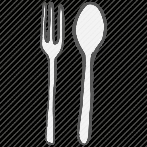 cutlery, dinner, eat, fork, restaurant, spoon icon