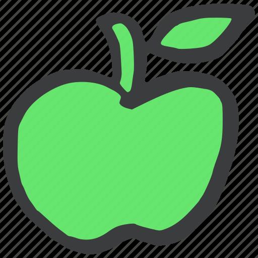 apple, food, fresh, fruit, green, healthy icon