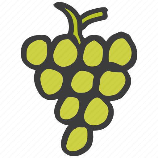 food, fruit, grapes, green, healthy, wine icon