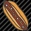 beef, hotdog, junk, meat, pork, sausage icon