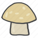 d, food, healthy, mushroom, vegetable, vitamin icon