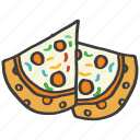 cheese, delicious, food, italian, junk, pizza icon