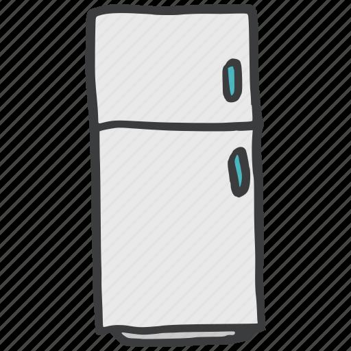 cook, fridge, kitchen, refrigerator, utility icon